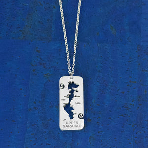 Upper Saranac Lake Stainless Steel Necklace, by Close 2 UR Heart
