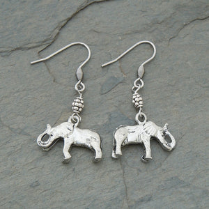 Elephant Profile Earrings