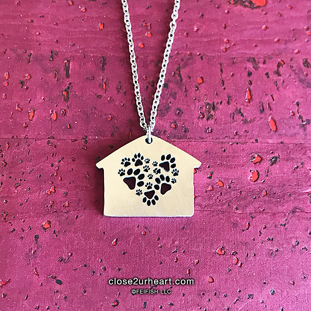 Home is Where Paws Are Necklace