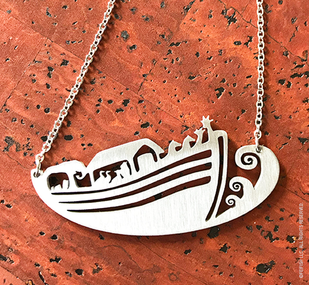 Noah's Ark Stainless Steel Necklace