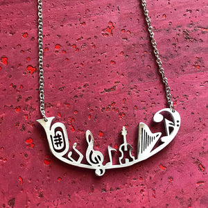 Music Symphony Necklace by Close 2 UR Heart