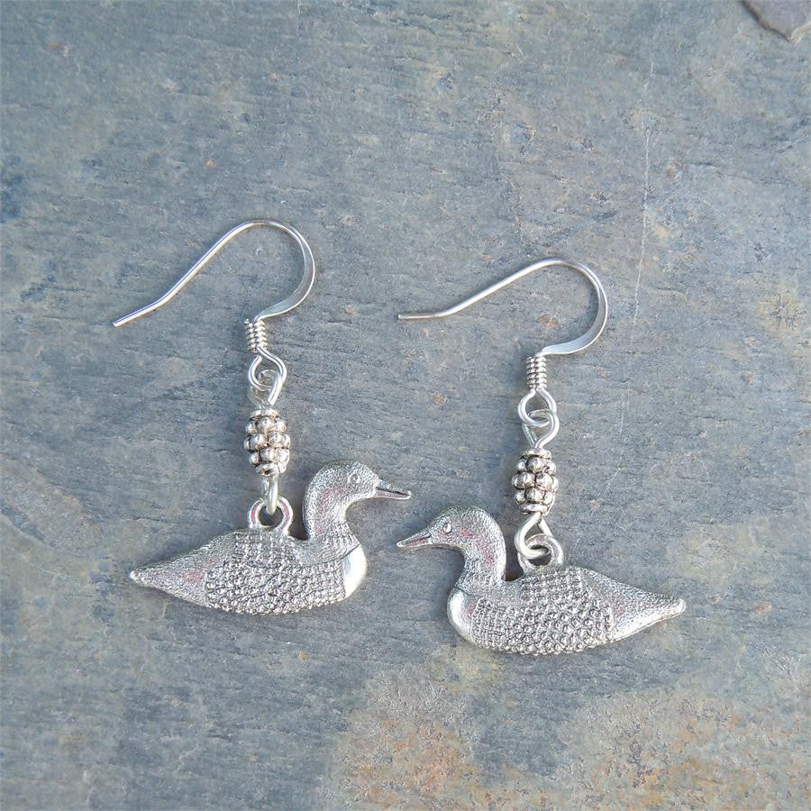 Loon Pewter Earrings