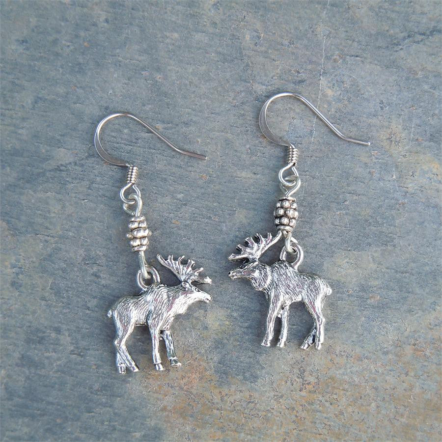 Moose Pewter Earrings