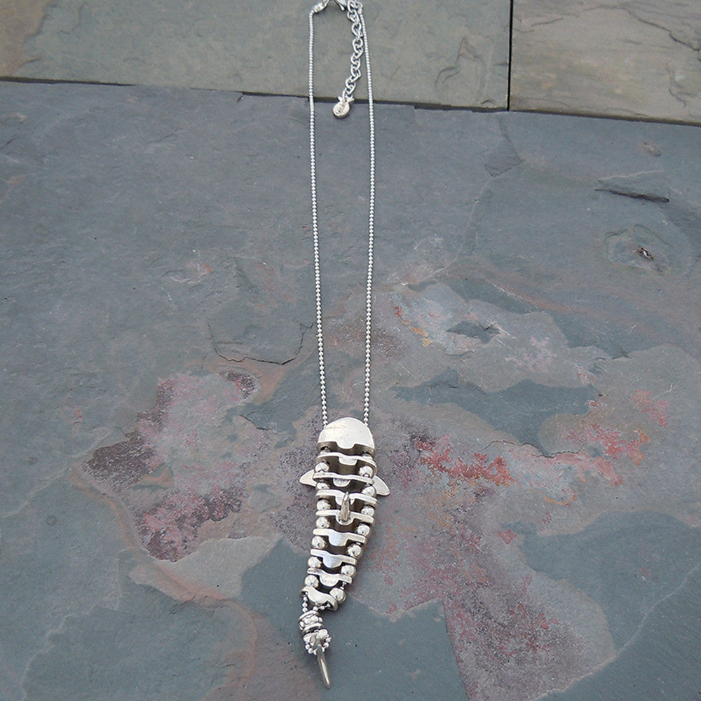 Pewter Great White or Hammerhead Shark Necklace