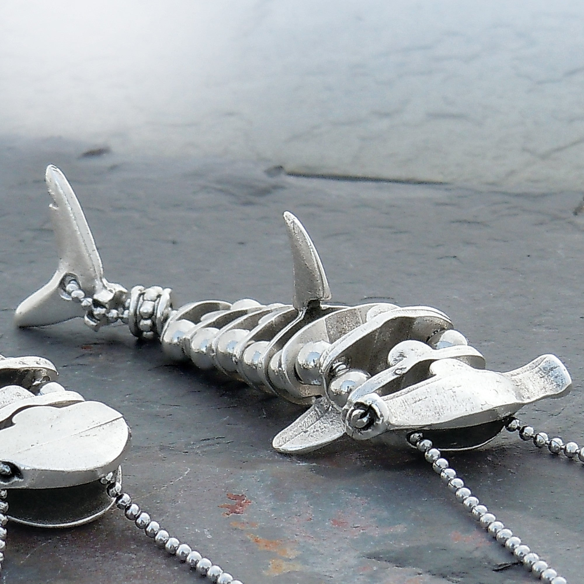 shore heart in treasures store hammerhead shark lovebirds jim ocean jn necklace at
