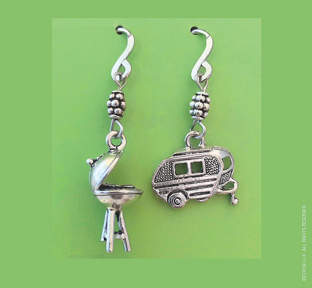 BBQ Grill and Camper Earrings