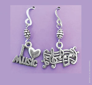 Music and Staff Earrings