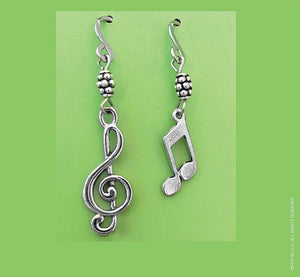 Music Clef and Note earrings