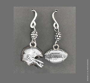 Football and Helmet Earrings