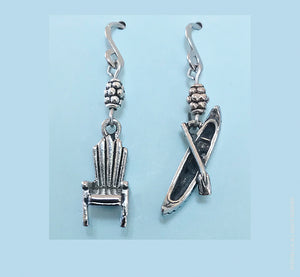 Adirondack Chair and Canoe Earrings