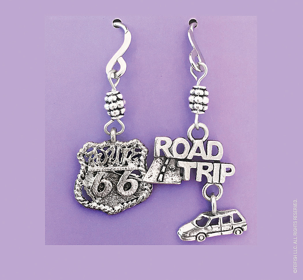 Road Trip and Route 66 Earrings