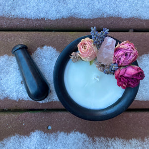 Love Spell Mortar+Pestle Candle