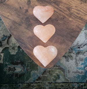 Large Himalayan Salt Hearts ☆ for bath, body and air purification