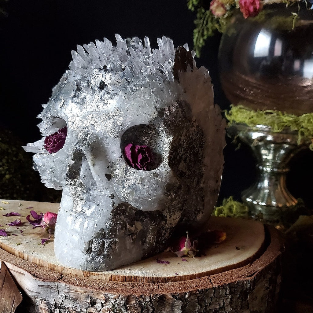 The Skull ☆ Calcite || Pyrite || Cobaltite || Needle Quartz || Chalcopyrite