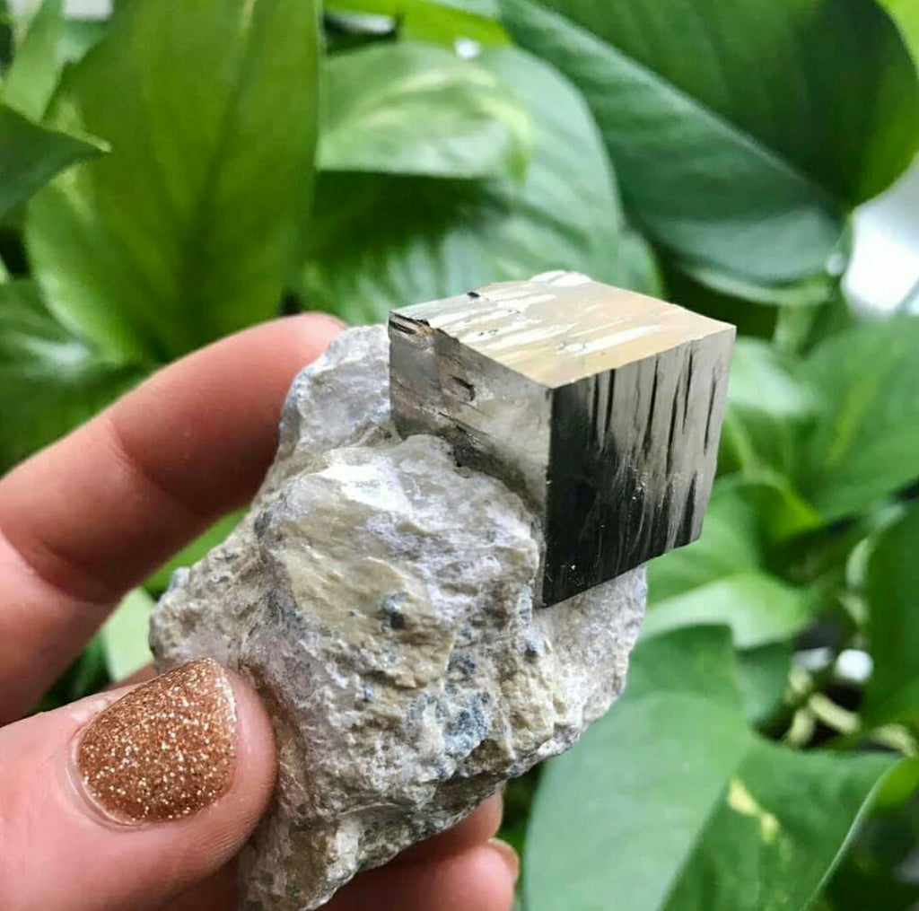 Naturally Occuring Pyrite Cube
