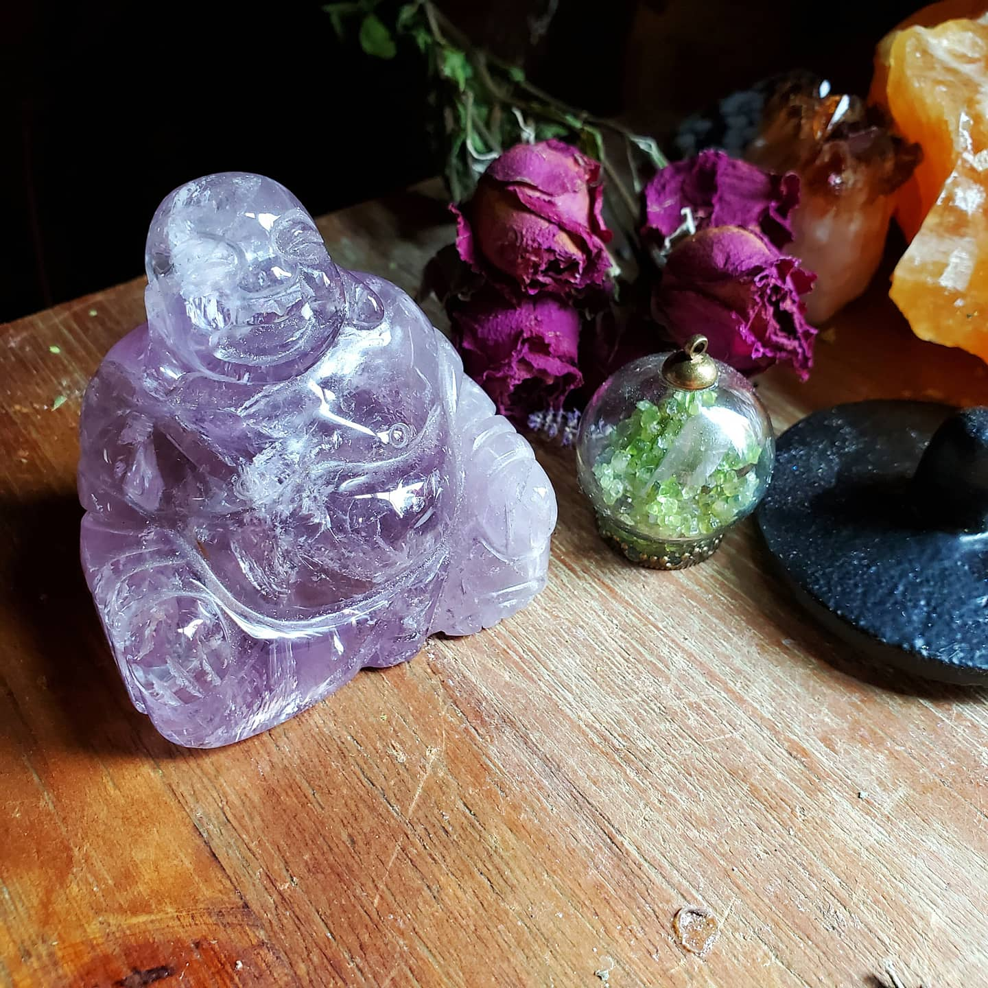 Amethyst Buddha ☆ Sprituality + Intuition