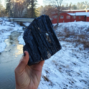 Black Tourmaline ☆ XL Raw Tourmaline