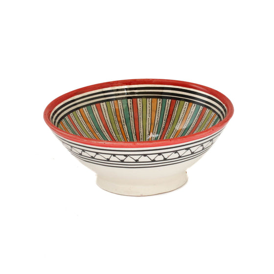 Sahara Serving Bowl, Red Small - House of Morocco