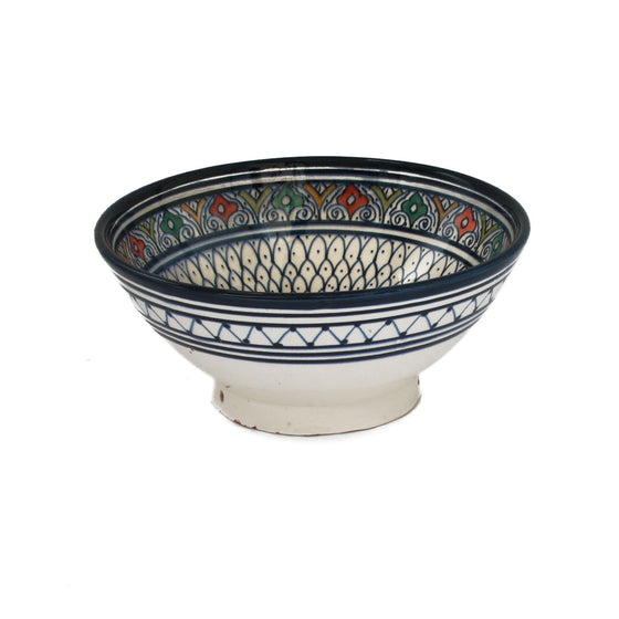 Safi Solomon Serving Bowl, Blue Small - House of Morocco