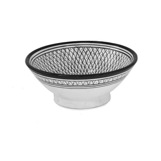 Solomon Serving Bowl, Black Small - House of Morocco