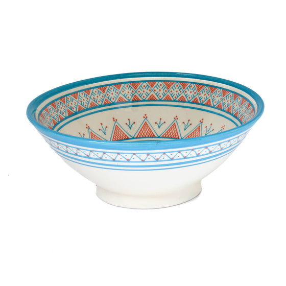 Safi Dotti Serving Bowl 2, Blue - House of Morocco