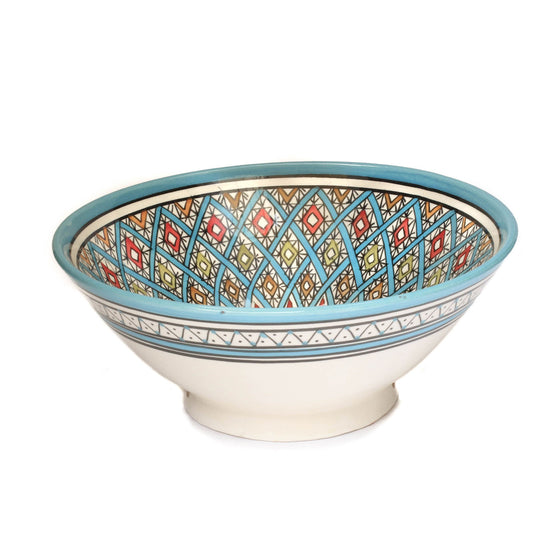 Safi Dotti Serving Bowl, blue - House of Morocco