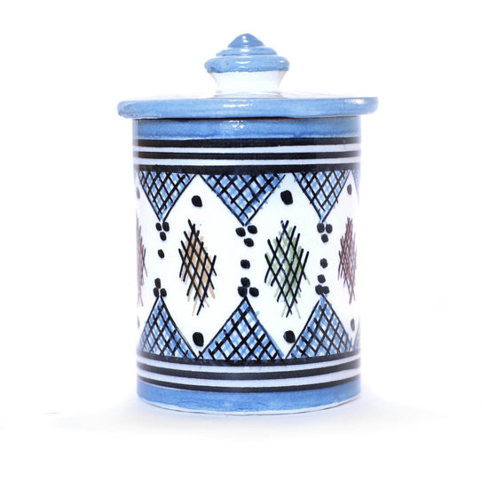 Berber Storage Pot, Light Blue - House of Morocco
