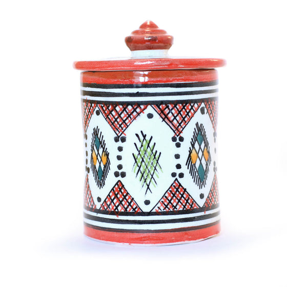 Berber Storage Pot, Red - House of Morocco