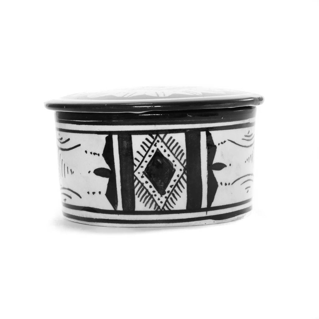 Atlas Jewellery Pot, Black - House of Morocco