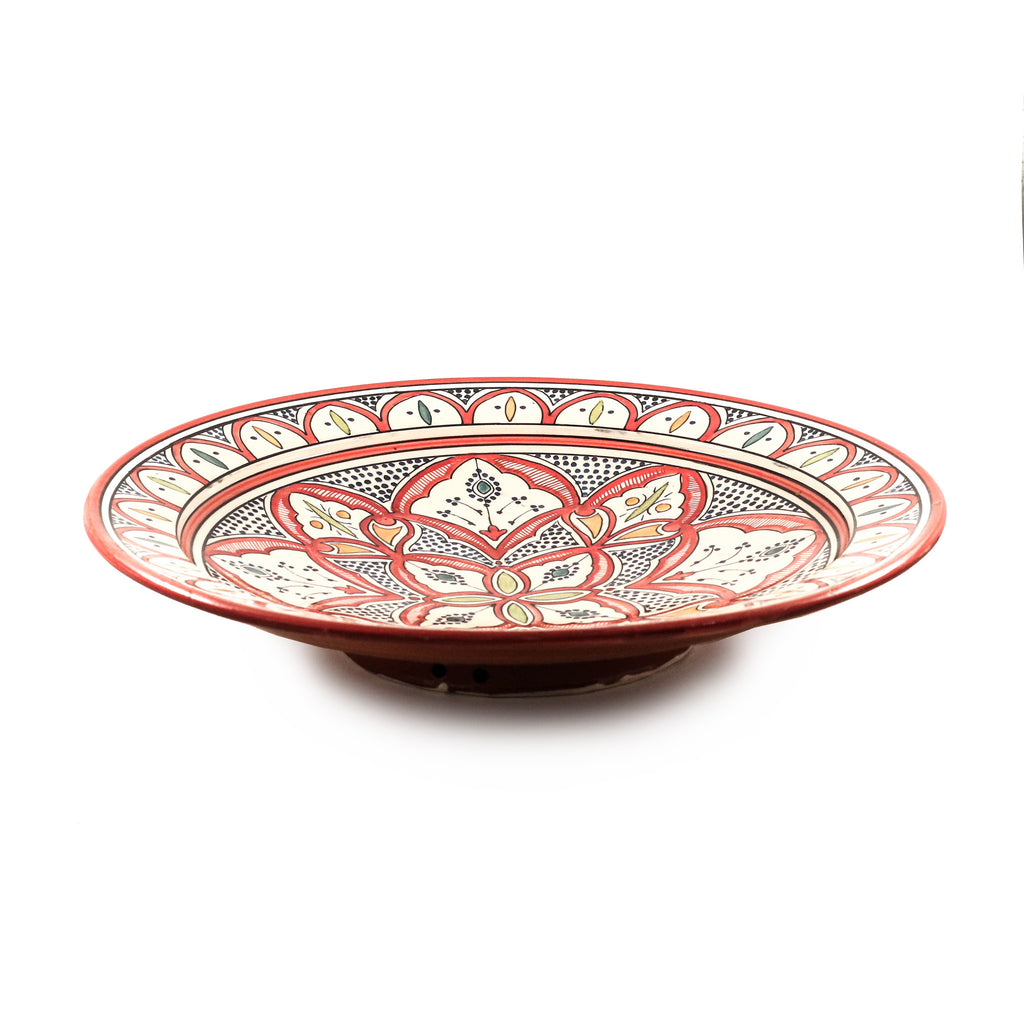 Safi Classic Plate, Red - House of Morocco