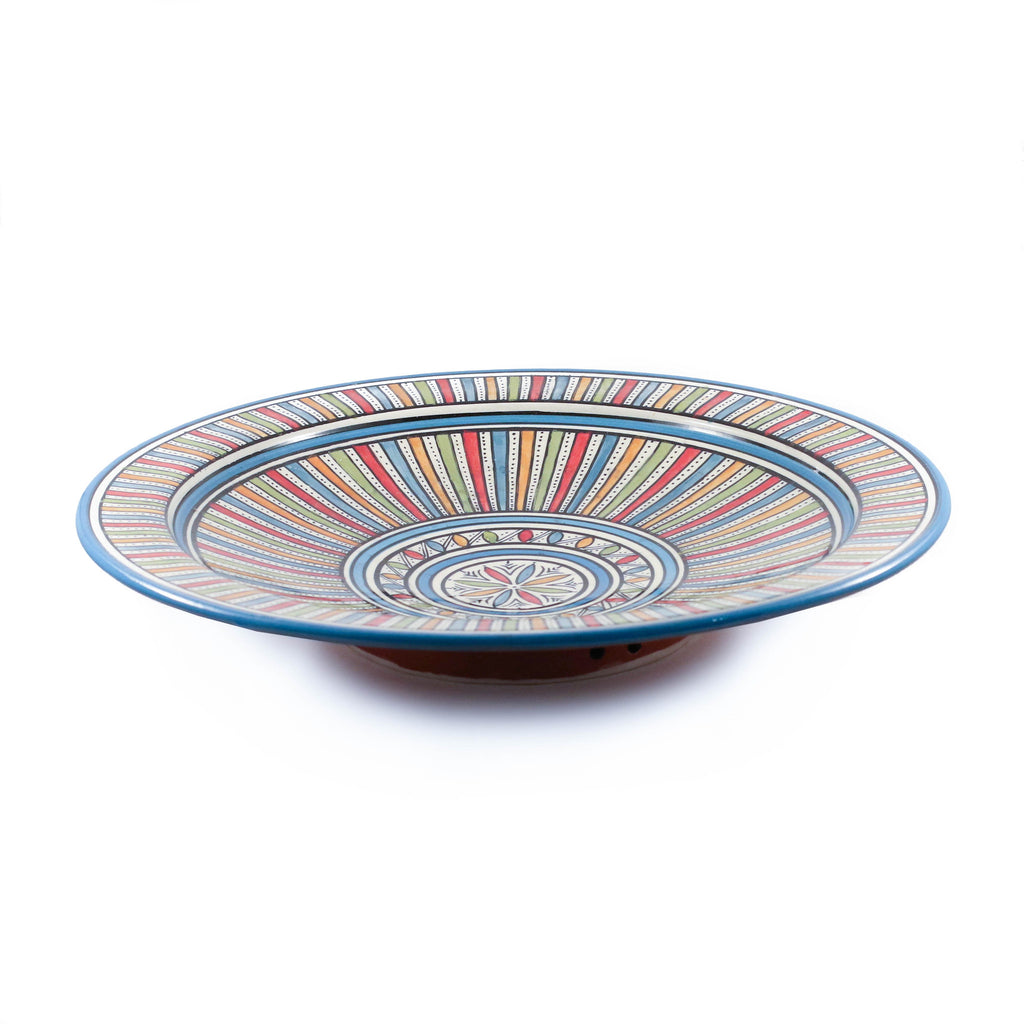 Sahara Plate, Blue - House of Morocco