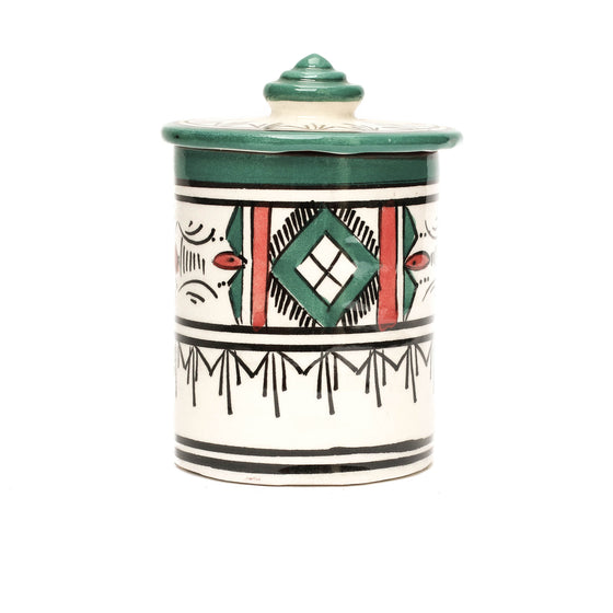 Atlas Storage Pot, Green - House of Morocco