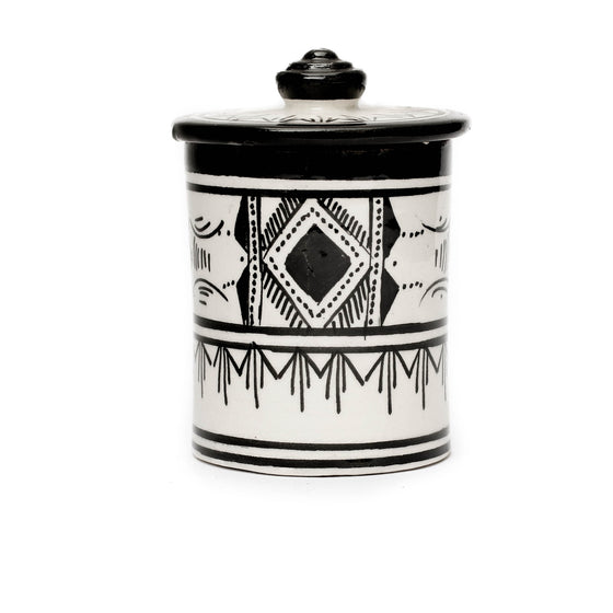 Atlas Storage Pot, Black - House of Morocco