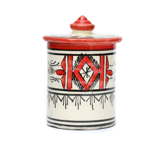 Atlas Storage Pot, Red - House of Morocco