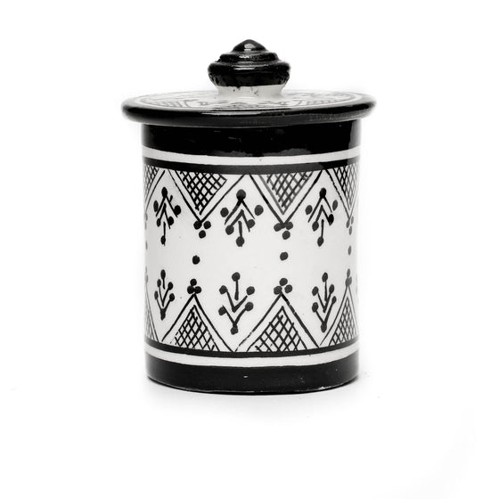 Henna Storage Pot, Black - House of Morocco