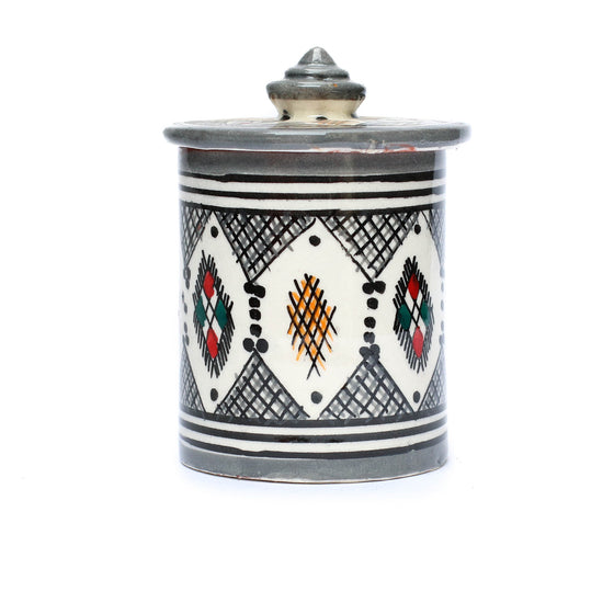 Berber Storage Pot, Grey - House of Morocco