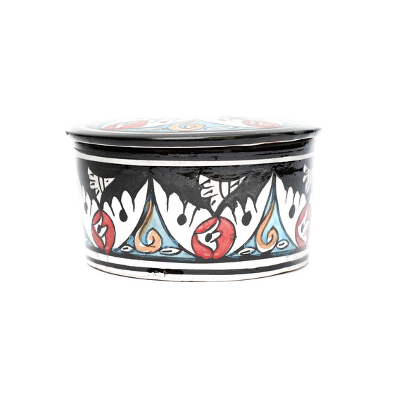 Kasbah Jewellery Pot, Black - House of Morocco