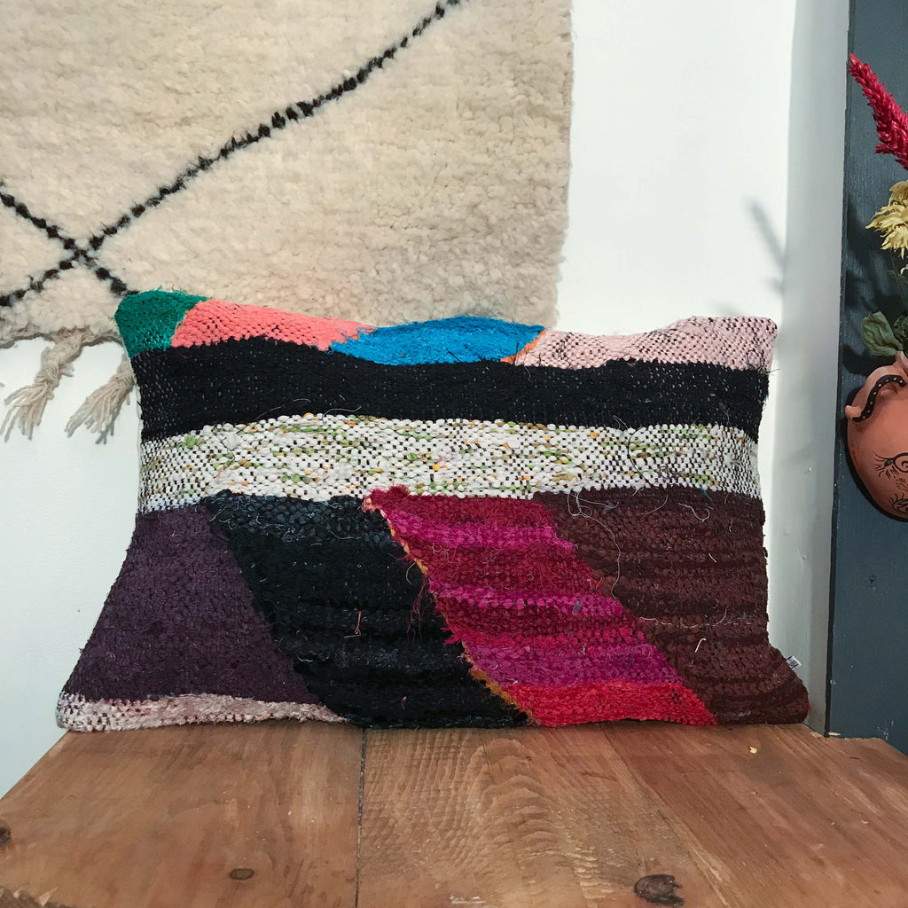 Boucherouite Cushion #102 - House of Morocco