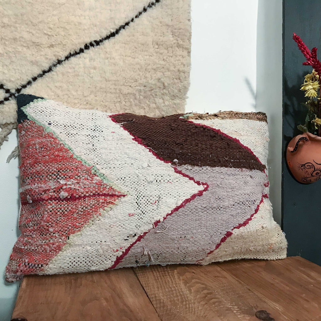Boucherouite Cushion #111 - House of Morocco