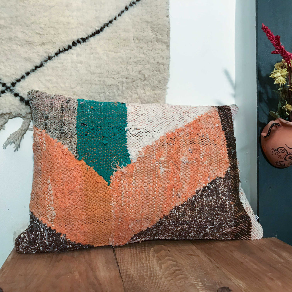 Boucherouite Cushion #113 - House of Morocco