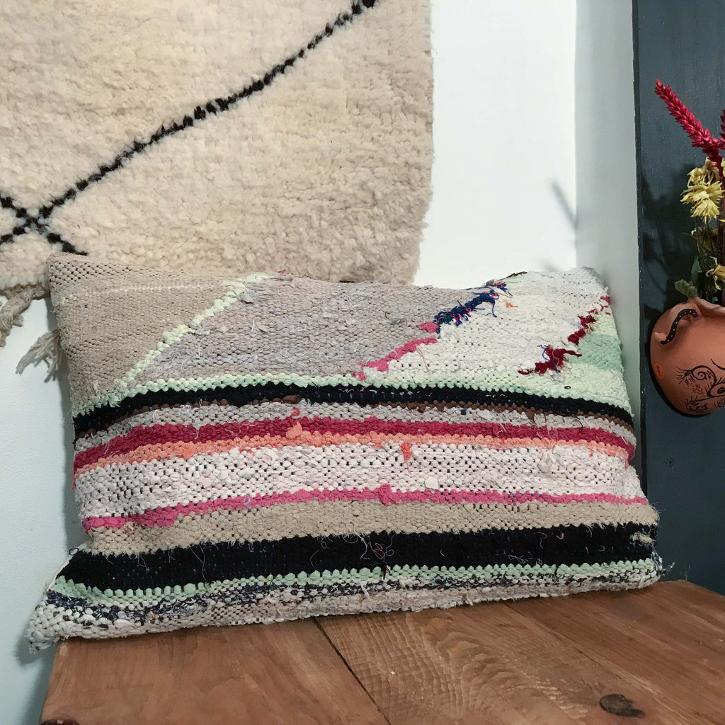 Boucherouite Cushion #117 - House of Morocco