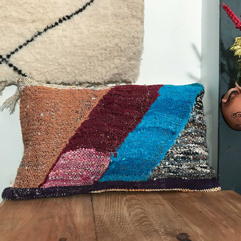 Boucherouite Cushion #124 - House of Morocco