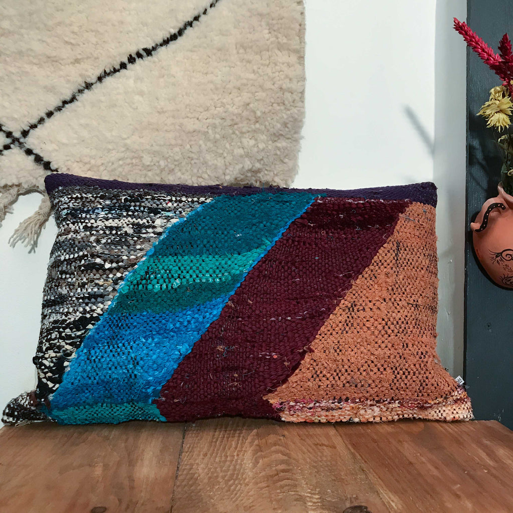 Boucherouite Cushion #135 - House of Morocco