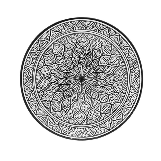 Safi Dotti Plate, Black - House of Morocco