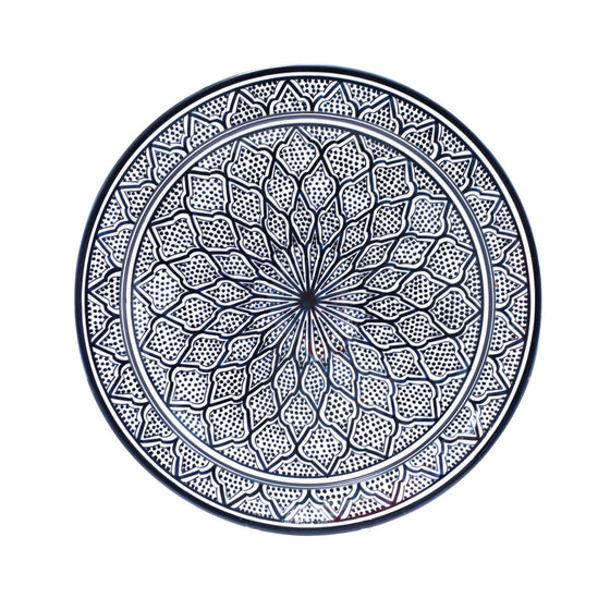 Safi Dotti Plate, Blue - House of Morocco