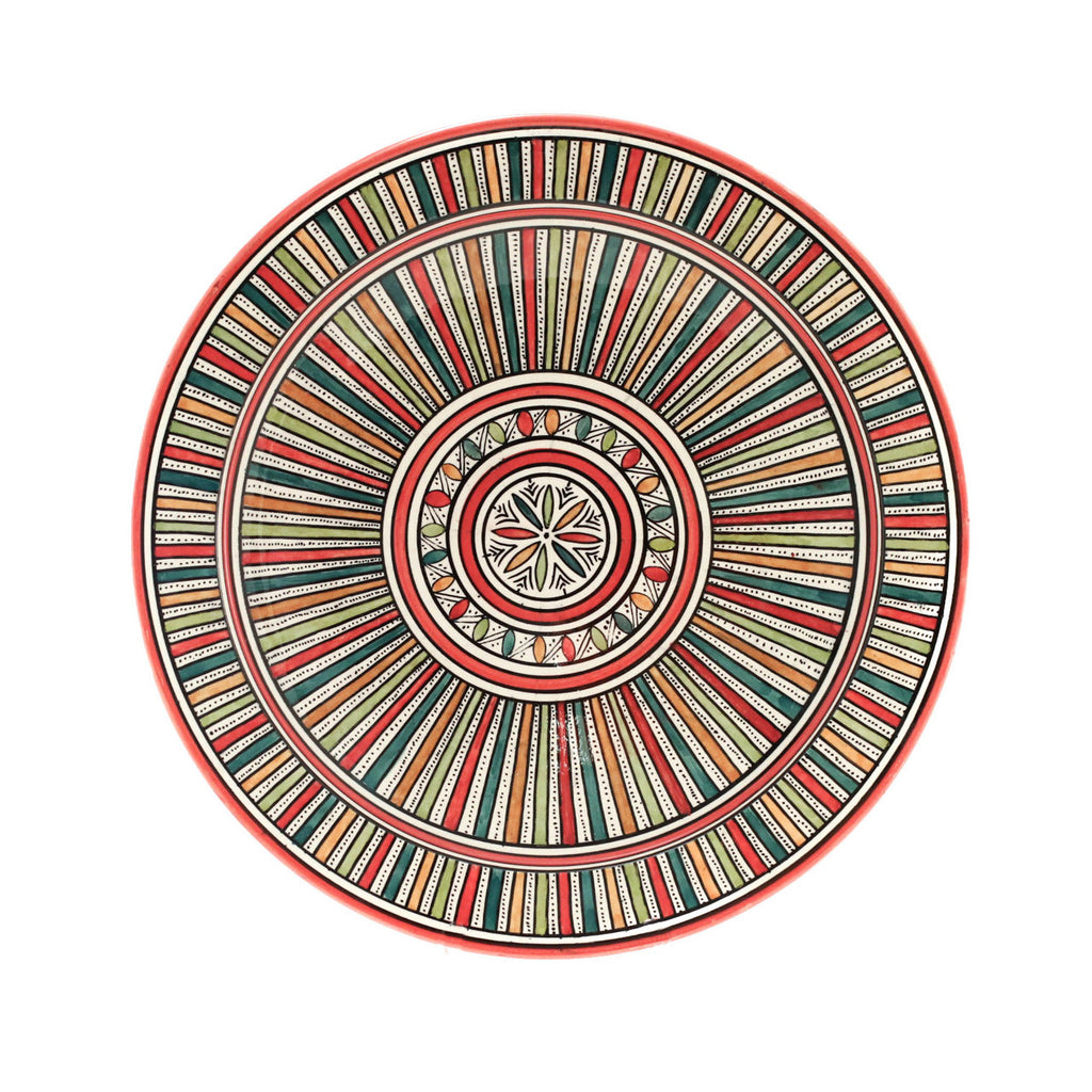 Sahara Plate, Red - House of Morocco