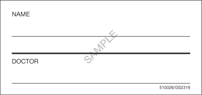 510026 - Patient Name Bed Card
