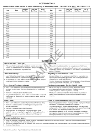510066 - Leave Application Form (DISCONTINUED)