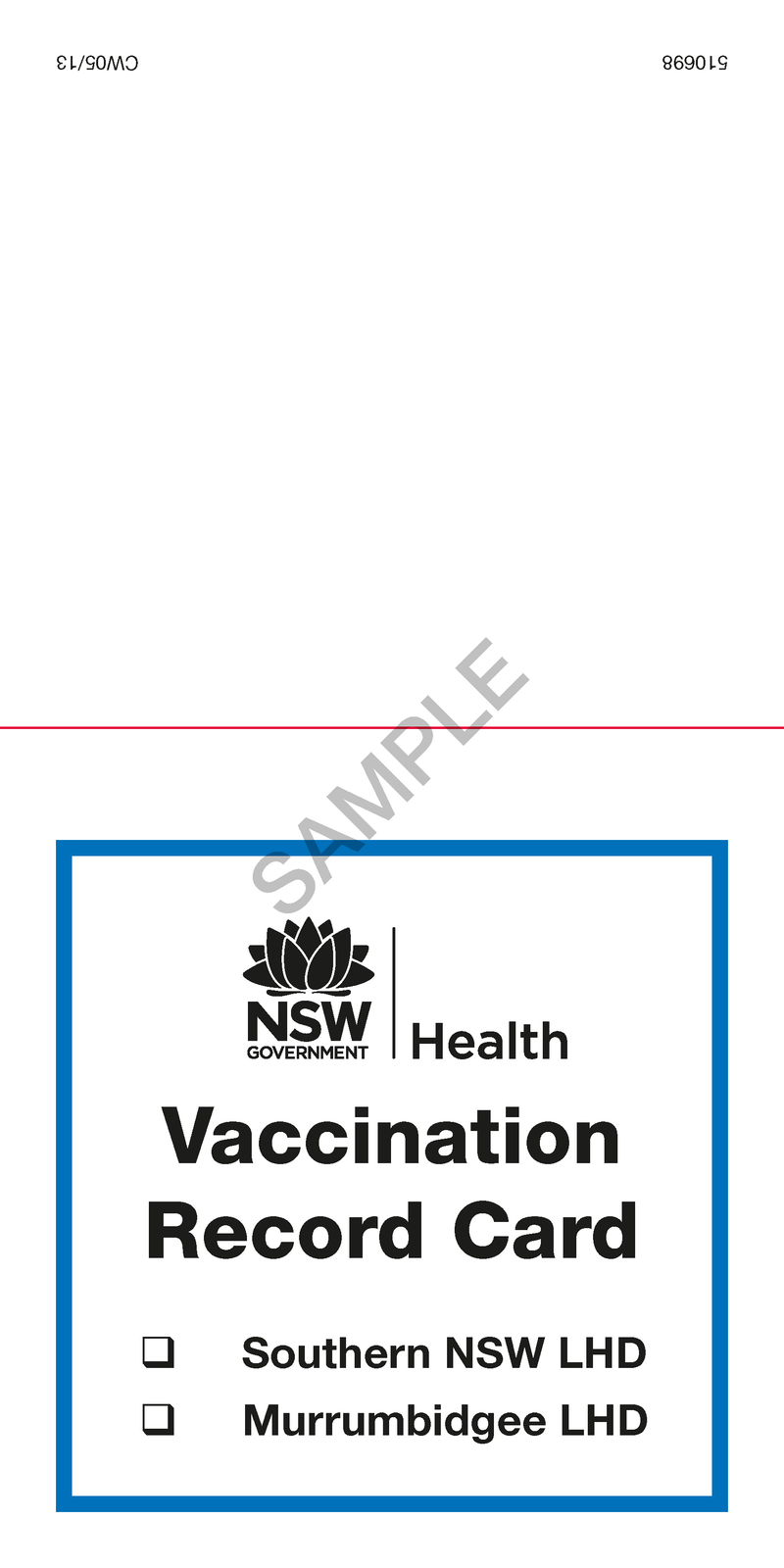510698 - Vaccination Record Card