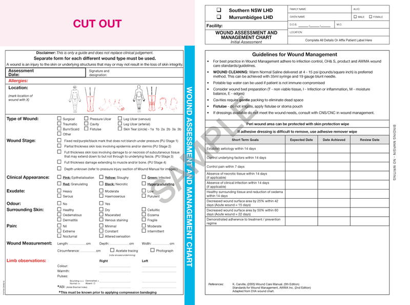 510706 - Wound Assessment & Management Chart - Initial Assessment